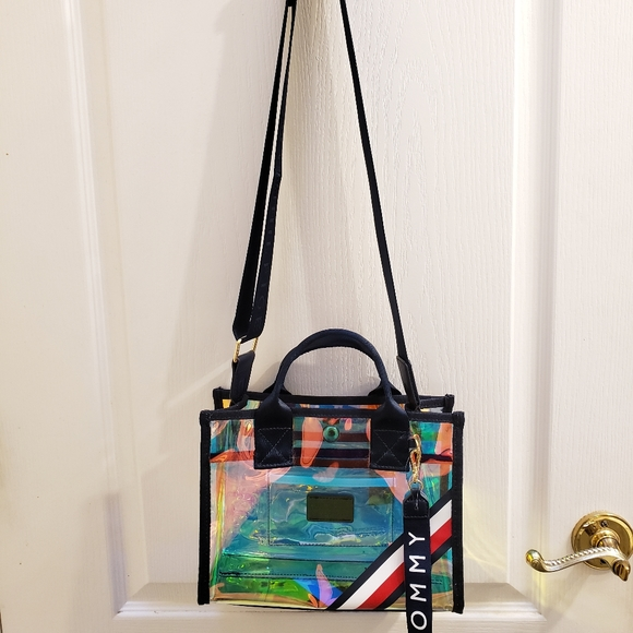 Tommy Hilfiger Iridescent PVC Mini Crossbody